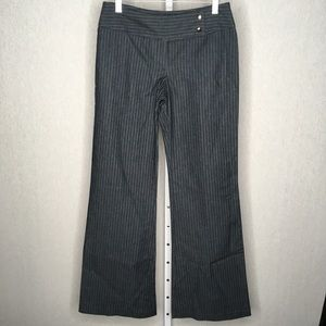 UO Lux Gray Pinstripe Trousers, NWT